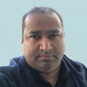 Kumar Kona picture on turquoise background